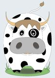 Cute cow with black spots Stock Image