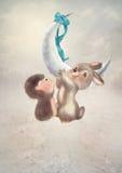 Children's illustration, winter fairy tale Stock Photography