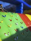Children`s inflatable climbing air cushion bed Royalty Free Stock Photo