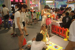 Children's interactive activities in Shenzhen Tai Koo Shing Shopping Center Stock Image