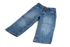 Children's jeans royalty free stock photo