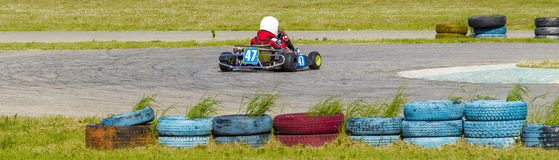 Children's karting Royalty Free Stock Images