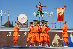 Children's Kung fu show Stock Photography