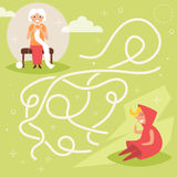 Children`s labyrinth. Vector. Royalty Free Stock Images