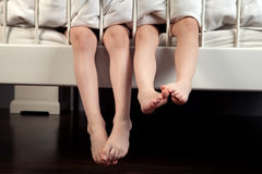 Children's legs stock image