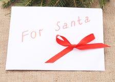 Children's letter to Santa. Stock Image