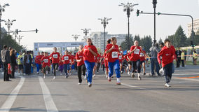 Children's marathon race Stock Images