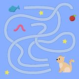 Children`s maze with animals. Sweetheart Vector Illustration royalty free illustration