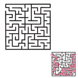 Children`s maze game Stock Photos