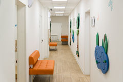 Children's Medical Center with educational games on walls Stock Photography