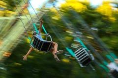 Children`s merry-go-round. stock images