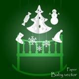 Children`s mobile for baby on Christmas EPS 10 royalty free illustration