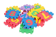 Children's mosaic of numbers Royalty Free Stock Photos