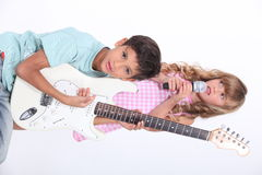 Children's musical group Stock Photos