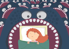 Children's night terrors. Royalty Free Stock Photo
