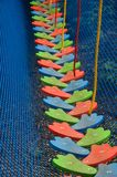Children's obstacle course from ropes Royalty Free Stock Photography