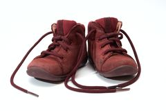Children's old shoes stock photos