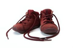 Children's old shoes Royalty Free Stock Images