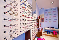 Children's optician shop Stock Photo