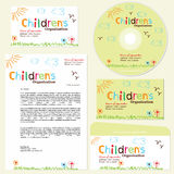 Children's organization template royalty free illustration