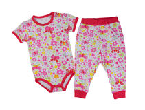 Children`s overalls, pants and jacket Stock Images