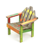 Children's painted lawn chair Royalty Free Stock Photo