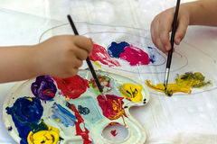 Children's painting Stock Photography