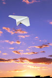 Children's paper airplane. Stock Photography
