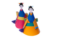 Children's paper toy-doll Royalty Free Stock Photos