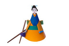Children's paper toy-doll Royalty Free Stock Photography