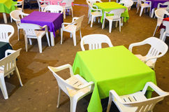 Children's Party Chairs and Tables Stock Photos