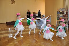 The children's party at Christmas concert in the city hall of the city of Gomel (Belarus) January 6, 2014. Stock Image