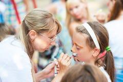 Children's party outdoor Stock Image