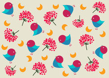 Children's pattern with birds Royalty Free Stock Images