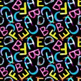 Children`s pattern English alphabet abc royalty free illustration