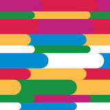 Children`s pattern. Multicolored stripes with semicircular edges Royalty Free Stock Images