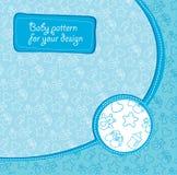 Children's pattern for a newborn baby boy Stock Photo