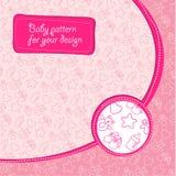 Children's pattern for a newborn baby girl stock illustration