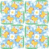 Children's pattern simulates fabric Cross stitch. Funny kids pattern simulating cross-stitch fabric Royalty Free Stock Photo