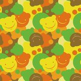 Children's pattern of smiles. Seamless pattern of smiles. Vector illustration Royalty Free Stock Images