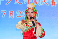 Children's peking opera performance on the stage Royalty Free Stock Images