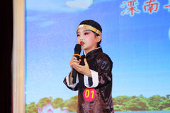 Children's peking opera performance on the stage Stock Images