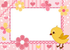 Children's photo frame. Chicken. Stock Photography