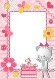 Children's photo framework. Cat. Royalty Free Stock Images