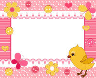 Children's photo framework. Chick. Vector  illustration Royalty Free Stock Photography