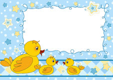 Children's photo framework. Duck. Stock Photography