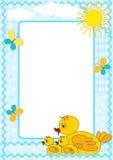 Children's photo framework. Duck. Stock Image