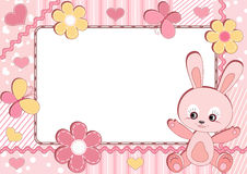 Children's photoframe. Rabbit. Stock Image