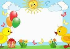 Children's photoframework. Royalty Free Stock Image