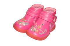 Children's pink shoes Royalty Free Stock Images